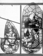 Ancienne église Saint-Eloi - Vitrail, fenêtre 2, tympan de droite