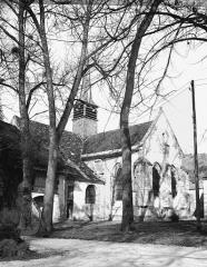 Ancienne Abbaye cistercienne de la Bussière, actuellement Centre d'accueil et de rencontre - Eglise, abside et clocher