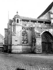 Ancienne abbaye ou prieuré Saint-Ayoul - Eglise, façade ouest, partie