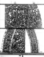 Ensemble archiépiscopal - Vitrail, déambulatoire, baie 57, Histoire de Joseph, deuxième panneau en haut