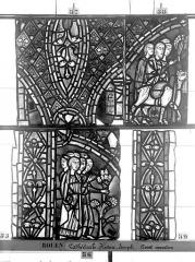 Ensemble archiépiscopal - Vitrail, déambulatoire, baie 57, Histoire de Joseph, troisième panneau en haut