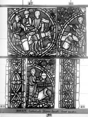Ensemble archiépiscopal - Vitrail, déambulatoire, baie 57, Histoire de Joseph, cinquième panneau en haut