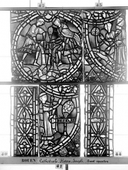 Ensemble archiépiscopal - Vitrail, déambulatoire, baie 57, Histoire de Joseph, sixième panneau en haut