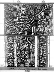 Ensemble archiépiscopal - Vitrail, déambulatoire, baie 57, Histoire de Joseph, septième panneau en haut