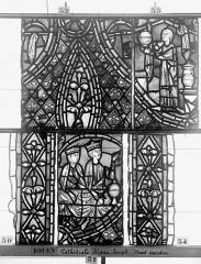 Ensemble archiépiscopal - Vitrail, déambulatoire, baie 57, Histoire de Joseph, huitième panneau en haut