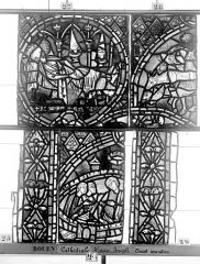 Ensemble archiépiscopal - Vitrail, déambulatoire, baie 57, Histoire de Joseph, neuvième panneau en haut