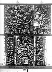 Ensemble archiépiscopal - Vitrail, déambulatoire, baie 57, Histoire de Joseph, dixième panneau en haut