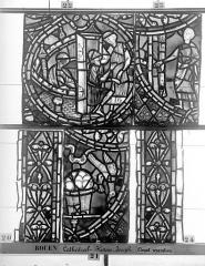 Ensemble archiépiscopal - Vitrail, déambulatoire, baie 57, Histoire de Joseph, onzième panneau en haut
