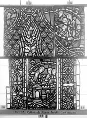 Ensemble archiépiscopal - Vitrail, déambulatoire, baie 57, Histoire de Joseph, douzième panneau en haut