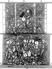 Ensemble archiépiscopal - Vitrail, déambulatoire, baie 57, Histoire de Joseph, treizième panneau en haut