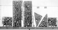 Ensemble archiépiscopal - Vitrail, déambulatoire, baie 57, Histoire de Joseph, bordures