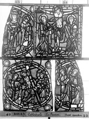 Ensemble archiépiscopal - Vitrail, déambulatoire, la Passion, premier panneau