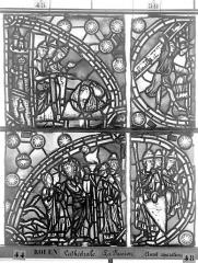 Ensemble archiépiscopal - Vitrail, déambulatoire, la Passion, deuxième panneau