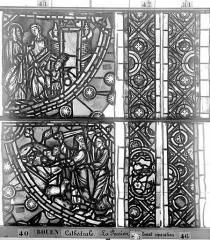 Ensemble archiépiscopal - Vitrail, déambulatoire, le Passion, troisième panneau