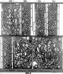 Ensemble archiépiscopal - Vitrail, déambulatoire, la Passion, quatrième panneau