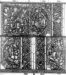 Ensemble archiépiscopal - Vitrail, déambulatoire, la Passion, cinquième panneau