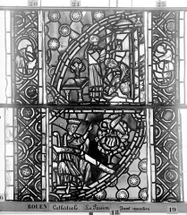 Ensemble archiépiscopal - Vitrail, déambulatoire, la Passion, septième panneau