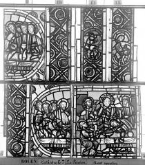 Ensemble archiépiscopal - Vitrail, déambulatoire, la Passion, neuvième panneau