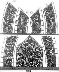 Ensemble archiépiscopal - Vitrail, déambulatoire, la Passion, bordures