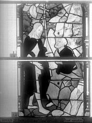 Eglise Saint-Godard - Vitrail, baie 15, Apparition du Christ, deuxième panneau
