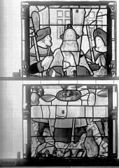 Eglise Saint-Godard - Vitrail, baie 15, Apparition du Christ, quatrième panneau