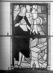 Eglise Saint-Godard - Vitrail, baie 15, Apparition du Christ, cinquième panneau