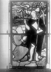 Eglise Saint-Godard - Vitrail, baie 15, Apparition du Christ, sixième panneau