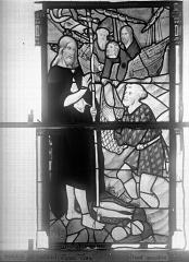 Eglise Saint-Godard - Vitrail, baie 15, Apparition du Christ, septième panneau