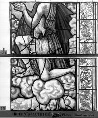 Eglise Saint-Patrice - Vitrail, fenêtre au fond du choeur, la Crucifixion, lancette de droite, deuxième panneau