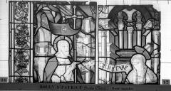 Eglise Saint-Patrice - Vitrail, fenêtre droite du choeur, septième panneau