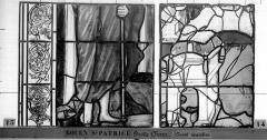 Eglise Saint-Patrice - Vitrail, fenêtre droite du choeur, huitième panneau