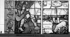 Eglise Saint-Patrice - Vitrail, fenêtre droite du choeur, onzième panneau