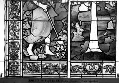 Eglise Saint-Patrice - Vitrail, fenêtre droite du choeur, quatorzième panneau