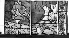 Eglise Saint-Patrice - Vitrail, fenêtre droite du choeur, quinzième panneau