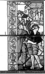 Eglise Saint-Patrice - Vitrail, fenêtre gauche, quatrième panneau