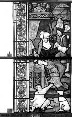 Eglise Saint-Patrice - Vitrail, fenêtre gauche, septième panneau