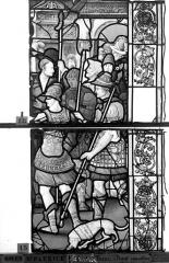 Eglise Saint-Patrice - Vitrail, fenêtre gauche, huitième panneau