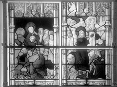 Eglise Saint-Nicaise - Vitrail, fenêtre 1, bas-côté nord, la Vie du Christ, panneaux
