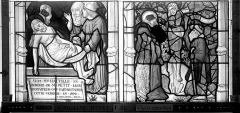 Eglise Saint-Nicaise - Vitrail, fenêtre 2, bas-côté nord, la Passion, panneaux