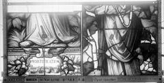 Eglise Saint-Nicaise - Vitrail, fenêtre 4, bas-côté nord, panneaux