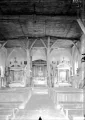 Eglise Saint-Christophe - Nef, vue de l'entrée