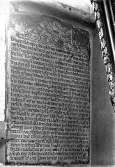 Eglise Saint-Gervais-Saint-Protais - Inscription