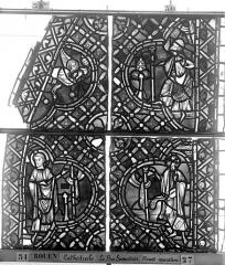 Ensemble archiépiscopal - Vitrail, déambulatoire, baie 52, le Bon Samaritain, deuxième panneau, en haut