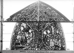 Ensemble archiépiscopal - Vitrail, sacristie des Chanoines, saint Pierre et saint Paul, premier panneau