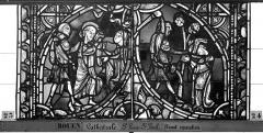 Ensemble archiépiscopal - Vitrail, sacristie des Chanoines, saint Pierre et saint Paul, deuxième panneau