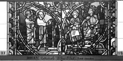 Ensemble archiépiscopal - Vitrail, sacristie des Chanoines, saint Pierre et saint Paul, troisième panneau
