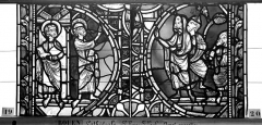 Ensemble archiépiscopal - Vitrail, sacristie des Chanoines, saint Pierre et saint Paul, quatrième panneau