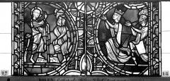Ensemble archiépiscopal - Vitrail, sacristie des Chanoines, saint Pierre et saint Paul, cinquième panneau