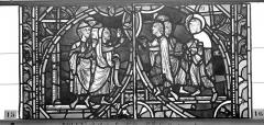 Ensemble archiépiscopal - Vitrail, sacristie des Chanoines, saint Pierre et saint Paul, sixième panneau