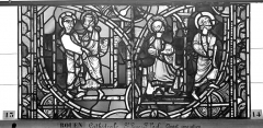 Ensemble archiépiscopal - Vitrail, sacristie des Chanoines, saint Pierre et saint Paul, septième panneau